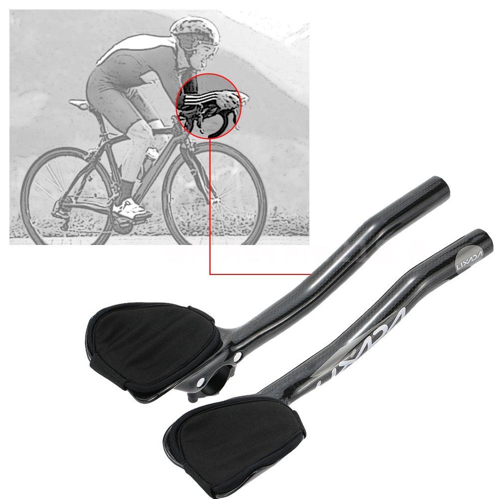 Bicycle rest Handlebar Aerobar Carbon Fiber For MTB Road Bike Racing 1 Pair